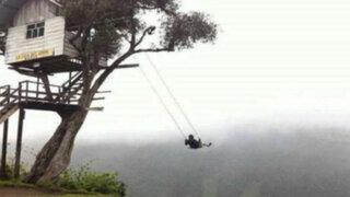 VIDEO: conozca el más espectacular columpio a 2660 metros de altura