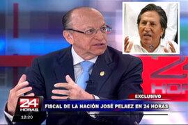 Fiscal Peláez: investigación a Toledo por lavado de activos será exhaustiva