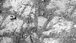 Misterio en Marte: Nasa intenta explicar la aparición de una roca en la superficie