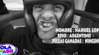 Nahuel López cumplió su primer desafío y se enfrentó a boxeador Luis Vargas