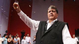 Alan García dejó abierta la posibilidad de postular a las elecciones presidenciales