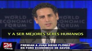 Foro Económico Mundial premió a Juan Diego Flórez por su labor social