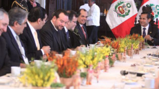 Ollanta Humala se reunió con gremios empresariales por fallo de La Haya