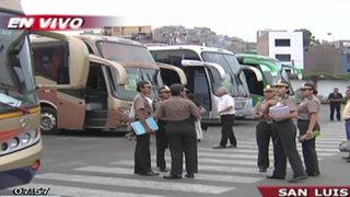 """Realizan operativo contra """"trata de menores"""" en terminal de Yerbateros"""