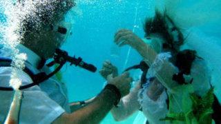 VIDEO: insólita propuesta de matrimonio bajo el agua por poco termina en tragedia