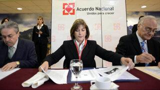 Eda Rivas se reunió con miembros del Acuerdo Nacional por fallo de La Haya
