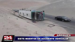 Arequipa: accidente de carretera deja 7 muertos y más de 30 heridos
