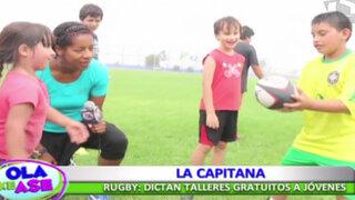 Inician talleres gratuitos de rugby para niños y jóvenes en Miraflores