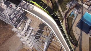 VIDEO: Este es el tobogán de agua más alto del mundo