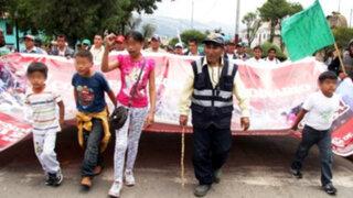 Cajamarca: Denuncian que antimineros usan niños como escudos en marchas