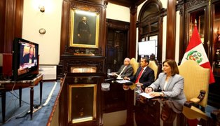 FOTOS: así siguió Ollanta Humala lectura del fallo de La Haya en Palacio