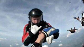 VIDEO: paracaidista se desmaya tras saltar al vacío desde una avioneta