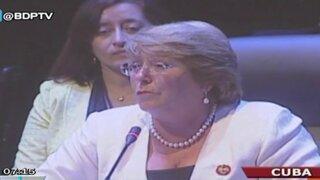 Michelle Bachelet: Durante mi gobierno se incrementará el comercio con Perú
