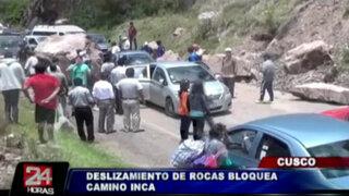 Cusco: deslizamiento de rocas bloqueó el acceso al Camino Inca
