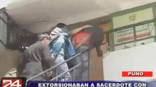 Puno: la policía capturó a dos sujetos acusados de extorsionar a cura