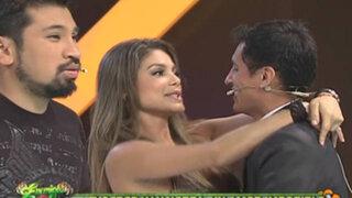 Vanessa Jerí y Gyofred Muñoz llenaron de romanticismo el set de Enemigos Públicos