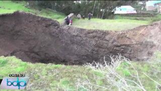 Gran desconcierto por enorme agujero en una comunidad de Pasco