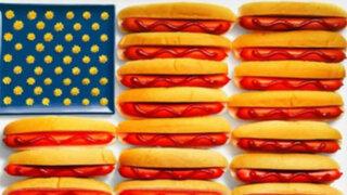 FOTOS: crean 15 banderas solo con los productos típicos de cada país
