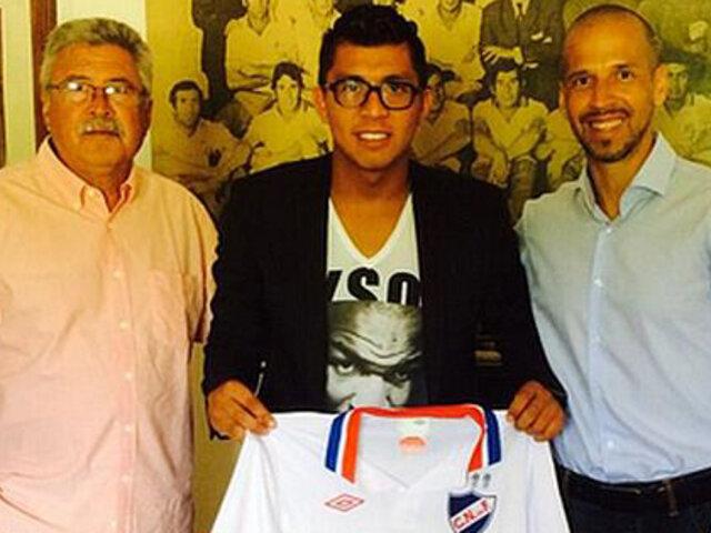 Rinaldo Cruzado se convirtió en nuevo jugador del Nacional de Uruguay