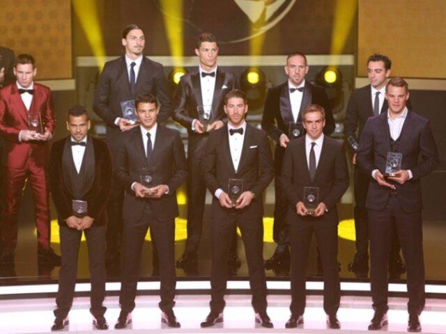 Balón de Oro 2013: conoce a la oncena ideal del 2013 para la FIFA