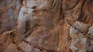 Vándalos dañaron pinturas rupestres de Qayaqpuma en Cajamarca