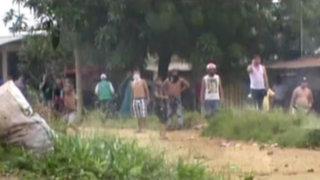 Tarapoto: desalojo a invasores de terrenos acaba en violentos enfrentamientos