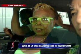 Lucía de la Cruz recuperó su libertad tras abandonar 35 Juzgado Penal