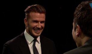 VIDEO: Beckham se enfrenta a Jimmy Fallon en el juego de la 'Ruleta Rusa'