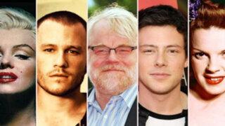 Lista de estrellas de Hollywood que se apagaron por una sobredosis