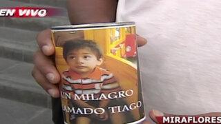 Organizan colecta para ayudar en tratamiento del pequeño Thiago