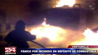 Incendio en depósito de aceite causó pánico en Ventanilla