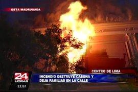 VIDEO: incendio destruyó casona antigua en el Cercado de Lima