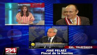 José Peláez niega crisis en el Ministerio Público por elección de fiscal del JNE