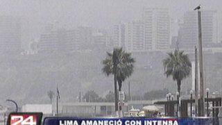 Lima amaneció nublada y Senamhi pronostica neblina durante fin de semana