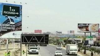 Municipalidad de Lima fiscalizará paneles publicitarios en Panamericana Sur