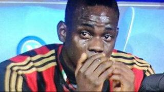 Mario Balotelli lloró tras ser cambiado en derrota del Milan ante Nápoli