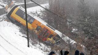 Francia: dos muertos y nueve heridos tras descarrilamiento de tren
