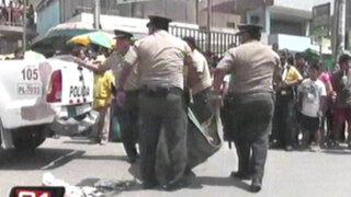Anciano perdió la vida tras ser arrollado por un ómnibus en Huachipa