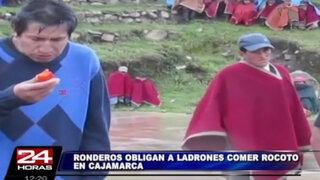 VIDEO: Ronderos de Cajamarca obligaron a delincuentes a comer rocoto