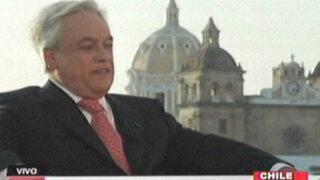Piñera envió cartas de protesta a Perú por tenencia de triángulo terrestre