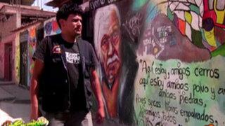 VMT: conozca la historia del mototaxista que es experto en pintar murales