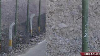 Enmallado colocado en la Costa Verde no resistiría grandes derrumbes