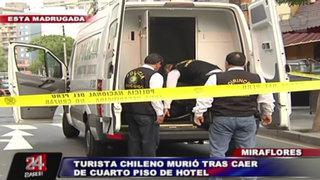 Turista chileno murió tras caer del cuarto piso de un hotel de Miraflores