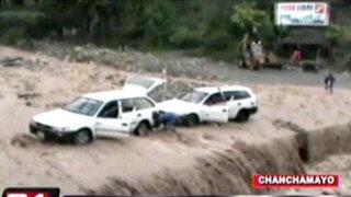 Lluvias torrenciales interrumpieron tránsito vehicular en carreteras de Chanchamayo