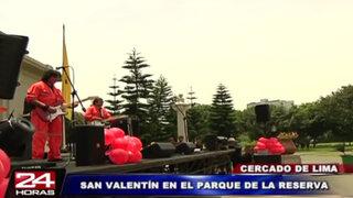 Todo listo para el concierto de San Valentín en el Parque de la Reserva