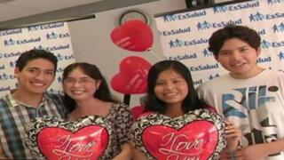 Casos del corazón: jóvenes celebraron Día del Amor gracias a donación de órganos