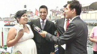 Más de 15 parejas se casaron en matrimonio civil comunitario en el Callao