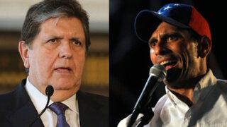 Alan García invitó a Capriles y líderes de oposición venezolanos a mitin en Lima