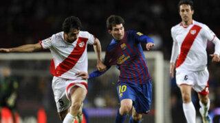 Barcelona goleó a Rayo Vallecano por 6-0 y trepó a la cima de la Liga BBVA