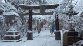Doce muertos y 1.500 heridos por intensa tormenta de nieve en Japón